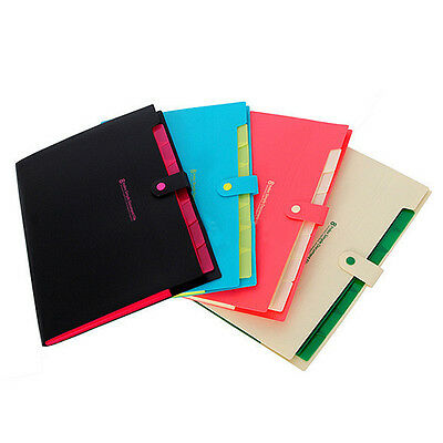 1PC Plastic 8 Layers Pockets A4 Paper File Folder Cover Holder Document Office Y