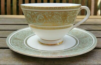 4 x ROYAL DOULTON ENGLISH RENAISSANCE TEA CUPS & SAUCERS