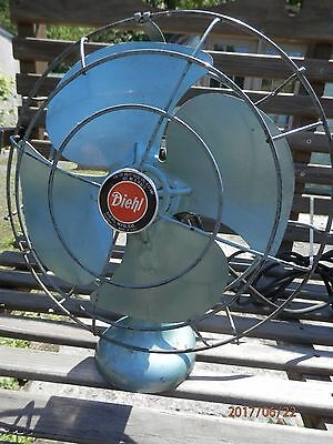 "Vintage, Deihl 12"" Rotating Fan"