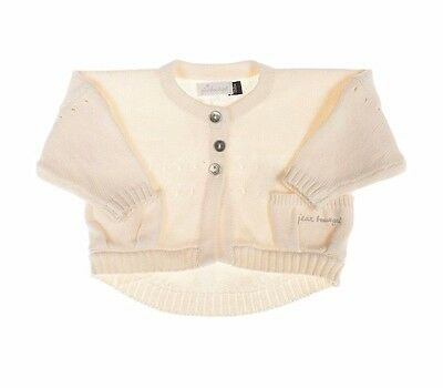 Jean Bourget BEAUTIFUL Baby Girl Cream Cotton Cardigan 3 months *NEW Great Gift!