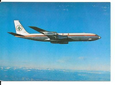 Airline Issue postcard-MEA Middle  East Airlines B707 aircraft