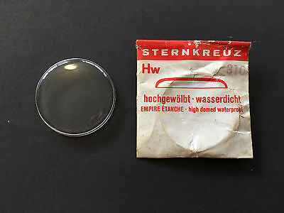 STERNKREUZ 45 x 45, 178 high domed watch crystal - new old stock - for vintage w