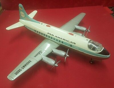 Vintage Schuco Radiant 5600 Pan American Airliner working and complete