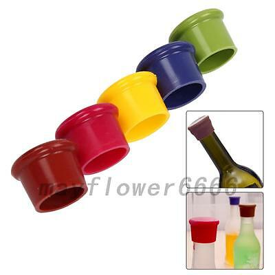 Silicone Wine Beer Cover Bottle Cap Stopper Beverage Home Kitchen Bar Tool