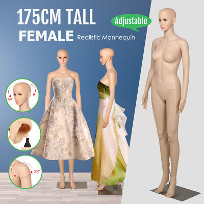 Full 175cm Female Mannequin Straight Hand Leg Dummy Adjustable Detachable