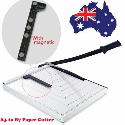 Paper Photo Cutter A3 To B7 Mental Base Page Trimmer Knife 15 Sheets Size L AU