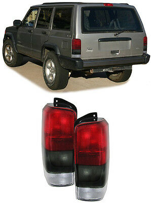 Smoked Rear Tail Lights For Jeep Cherokee Xj 10 1996 08 2001 Model