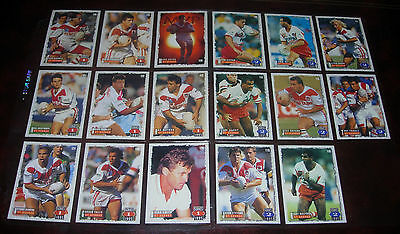 ST GEORGE DRAGONS 17 PLAYER CARDS~1995 Series 1 & 2 Rugby League Cards