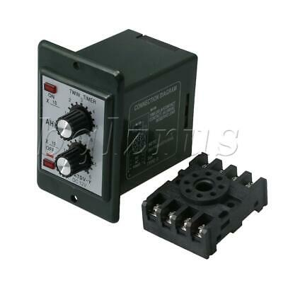 RDEXP DC 12V Delay Timer Repeat Cycle Time Relay Black