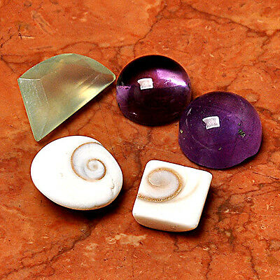 Wholesale Gemstone Lot 5 Pcs  Shiva Eye Cabochon Loose Cab AUK90