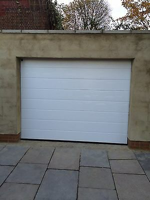 Fully Fitted Electric Sectional Ribbed Garage Door INSTALLED Cheapest On Ebay