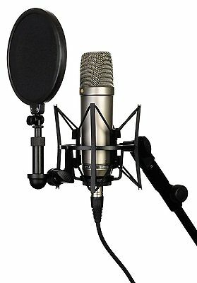 Rode NT1-A Microphone With Pop Shield, Shock mount, XLR Cable & Dust Cover