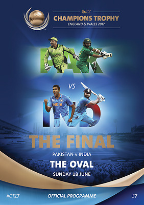 2017 Icc Champions Trophy Final Programme