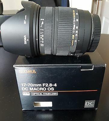 SIGMA 17-70 mm 1:2.8-4 DC MACRO HSM OS LENS for CANON - 17-70mm f/2.8-4.0