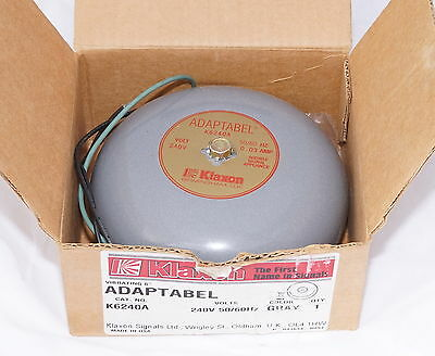 "Klaxon K6240A 240V Adaptabel Vibrating 6""  Bell suit School or Fire 104dB@1m"