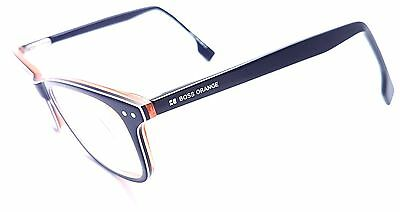 HUGO BOSS Full Rim Blue & Orange Square Used Glasses Eyeglasses Frame
