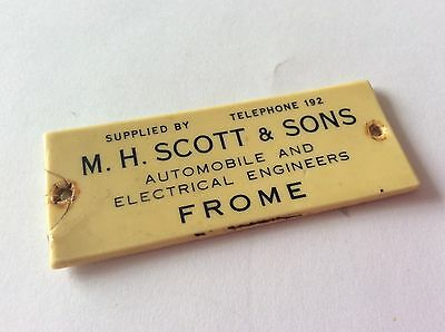 M H Scott & Sons (Frome) Dealership Dashboard Car Badge