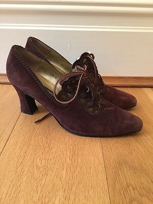 Roland Cartier Vintage Victorian Style Shoes Eu 38 Uk5 (h3)