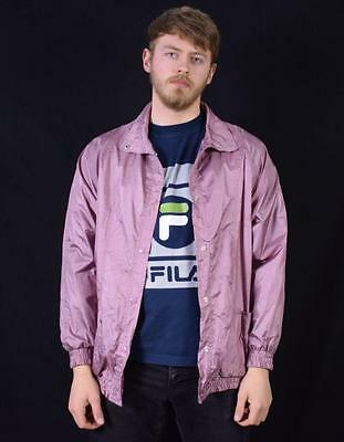 Large Vintage Urban Outfitters Stone Island Style Pink 90's Festival Jacket