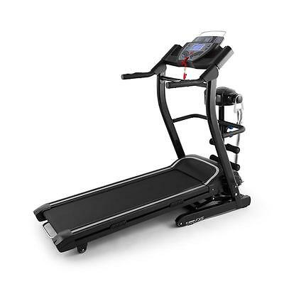 Klarfit Running Treadmill Training Computer 12 Program Speakers Aux Black Cardio