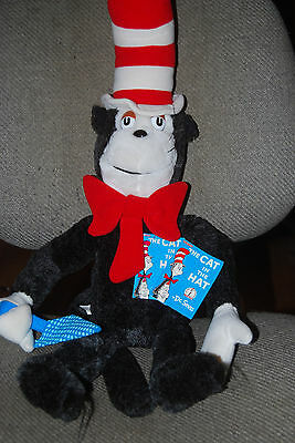 """Dr. Seuss Cat in the Hat Plush 25"""" with original tags Coleco 1983"""
