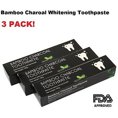 315g 3pack Bamboo charcoal Black Toothpaste Natural Fresh Polish Teeth Whitening
