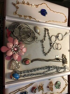 Vintage Job Lot Of Gold And Silver Toned Costume Jewellery