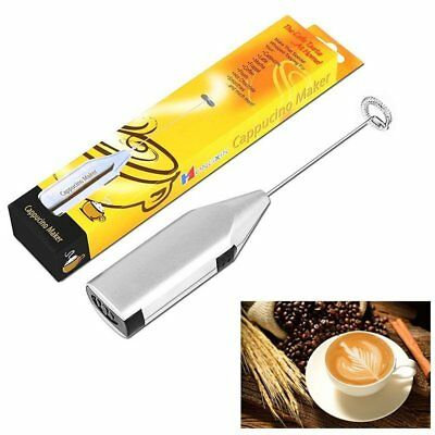Handheld Electric Coffee Latte Chocolate Milk Frother Whisk Frothy Blend Whisker