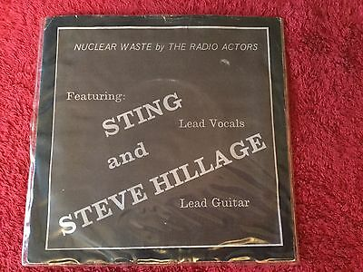 "STING AND STEVE HILLAGE - Nuclear Waste - 7"" Single with Picture Sleeve - EX/VG"