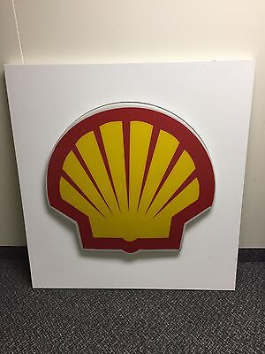 Very Nice - Original Shell Oil/gas Lighted Service Station Sign/panel