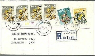 Südwestafrika  1979,  cover Aroab to Claremont/Cape, succulants franking
