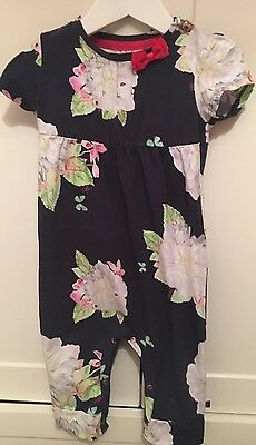 Ted Baker Baby Girls Romper Suit/sleep Suit Size 6-Months