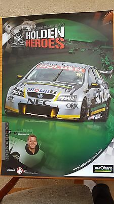 Paul Dumbrell Holden Heroes Poster  2008 Commodore V8 Supercars