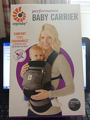 Ergobaby Performance Baby Carrier Charcoal Black New In Box