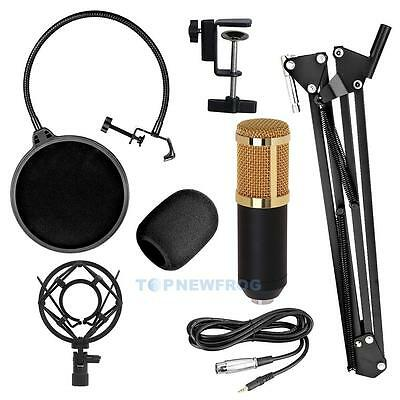 Pro BM800 Condenser Microphone Kit Studio Recording Mount Boom Stand Sound Card