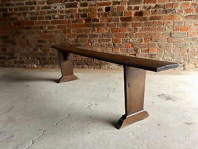 Fabulous Antique French School Bench Stool Solid Oak Victorian19th Century