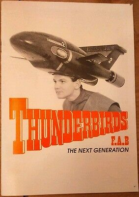 """Gerry Anderson's """"Thunderbirds F.A.B"""" 1989  Theatre Programme"""