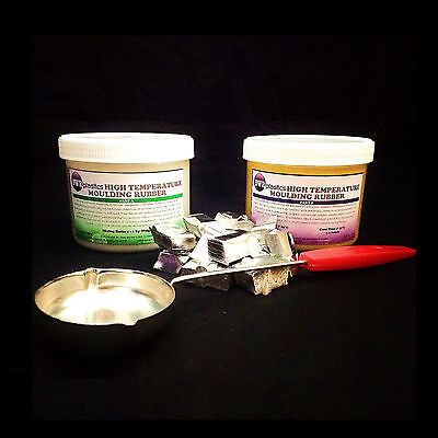 High Temperature Resistant Silicone Mould Making Rubber 1kg kit *Pewter & Ladle*