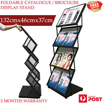 New Portable Large 4 Brochure Holder Literature Catalogue Book Display Stand