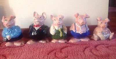 Full Set Of Natwest Pigs With Original Stoppers