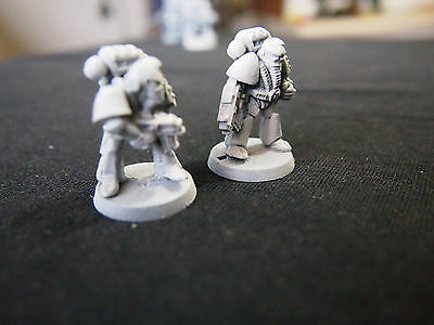 Warhammer 40K -Two Rogue Trader Space Marines - Oop  Metal