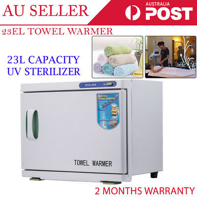 23L Cabinet Disinfection Heater Hot Hotel Salon Spa UV Towel Sterilizer Warmer