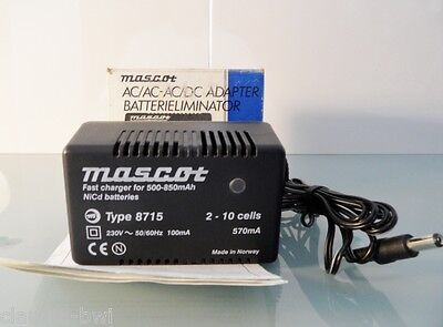 CHARGEUR ADAPTATEUR NICd/NIMh MASCOT TYPE 8715 AC/DC 570mA ALIMENTATION