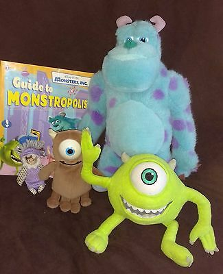 Disney Pixar Monsters Inc Toys & Book - Boo, Boo's Teddy Lil Mikey, Sulley, Mike