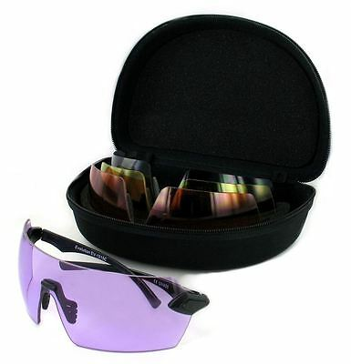 Evolution Matrix 4 Shooting Glasses 4 Interchangeable Lenses Clay Pigeon Cycling