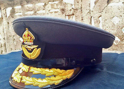 WW2 Royal Air Force Group Captain Officers RAF Cap Kings Crown Reproduction