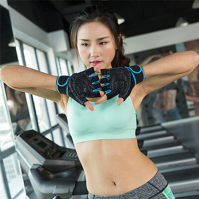 Women Weightlifting Gym Gloves Fitness Training Wrist Wrap Workout Exercise