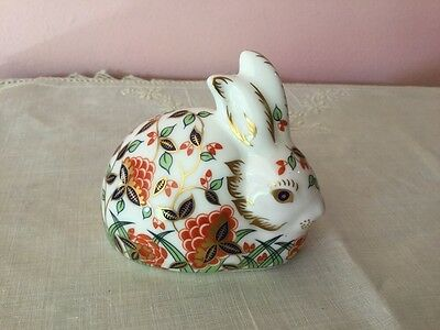 Royal Crown Derby Paperweight. Meadow Rabbit. Bunny
