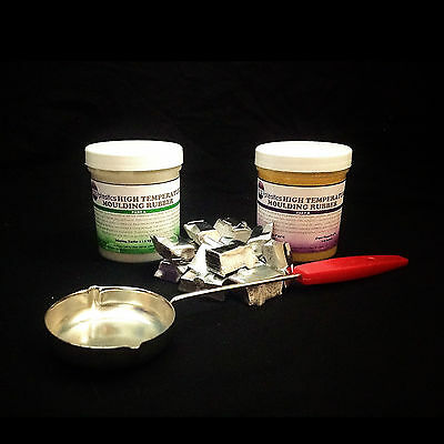 High Temperature Resistant Silicone Mould Making Rubber 500g kit *Pewter & Ladle