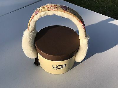 Ugg Fleece Earmuffs UGG Print Design New in Box $75